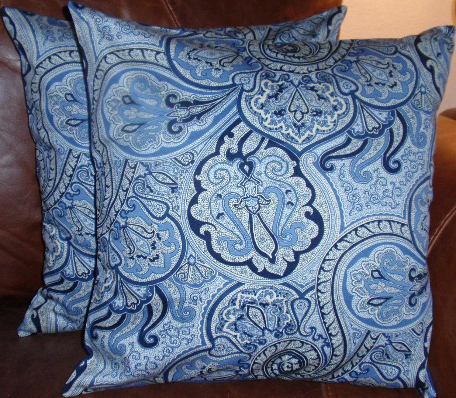 Decorative Pillows With Removable Covers : Throw Pillow removable cover 16x16 Set of 2 sewn with