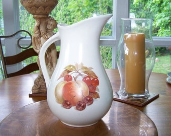 Elegant Pitcher Cherries & Peaches - Looking For Wildflowers