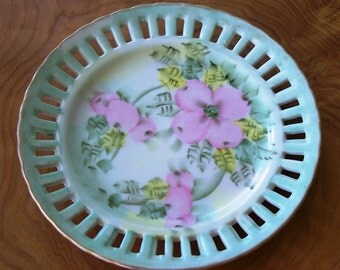 Oriental Porcelain Plate - Perfect For Chinatown Almond Cookies