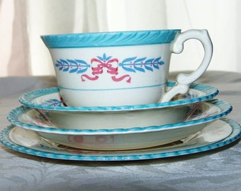 Vintage Crown Ducal China - Cambridge Pattern - Blue Essence of Spring