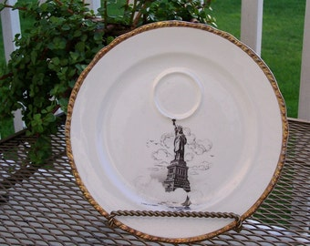 Statue of Liberty Souvenir Plate by Harker 1940's