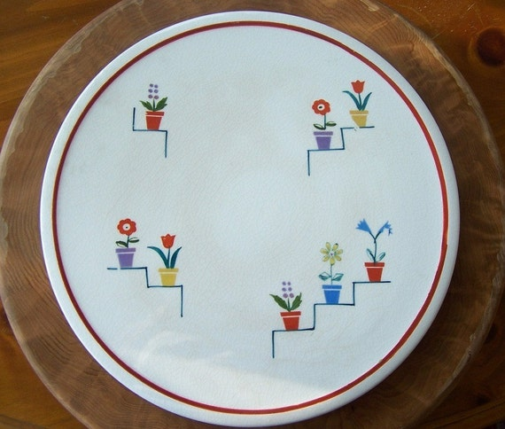 Vintage Jubilee Platter - Use for Cake -  Cheese - Appetizers & Fruit - ReDuCeD