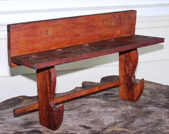 Primitive Rustic Solid Pine Wood Shelf - A Functional Piece of Art Decor