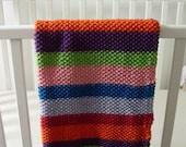 Garden Medley Striped Organic Cotton Blanket