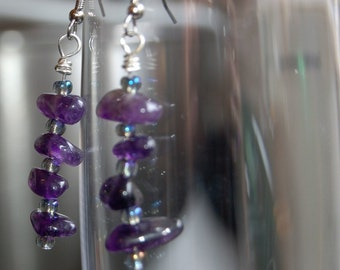 Purple Magesty Amethyst Earrings