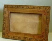 Vintage Ruler Picture Frame