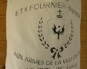 Tote Bag / Canvas / French Feed Sack / Stenciled