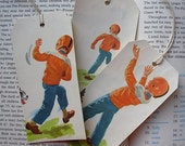 Dick and Jane Vintage gift tags    Fall Football
