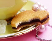 Sweet Chocolate Butter Cookie..necklace