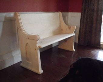 Unfinished Wooden Church Pew