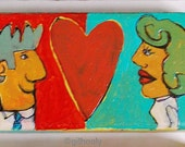 Painted Block Art Object-Couples and Pets-Love to Love You