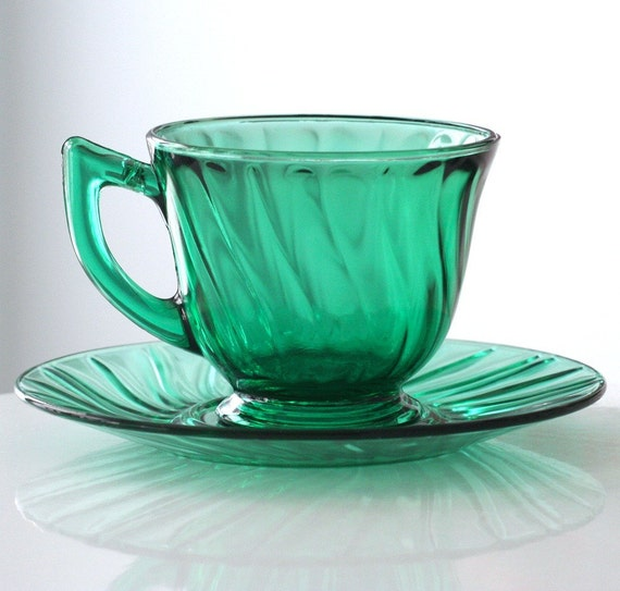 Jeannette Ultra-Marine Swirl Cup and Saucer