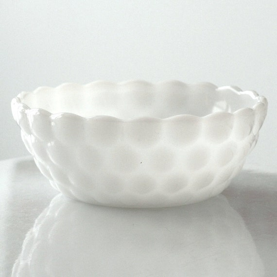 Anchor Hocking Milk Glass Bubble Berry Bowl