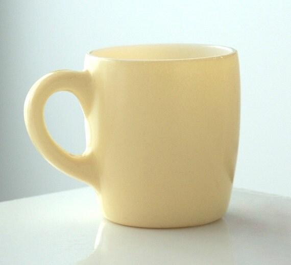 Hazel Atlas Yellow Fired-On Mug