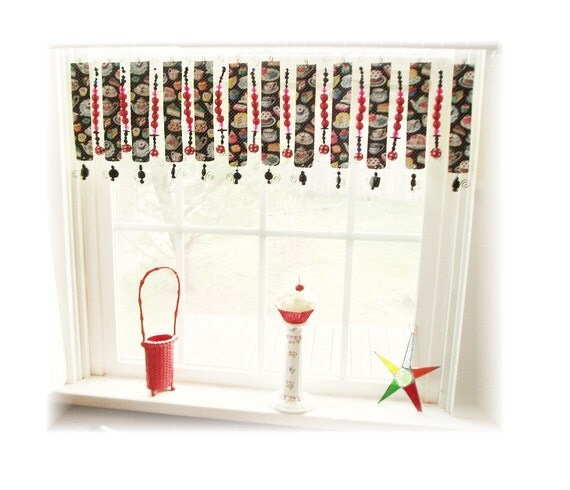 Super Whimsical Tin Sweet Tooth Window Treatment Valance