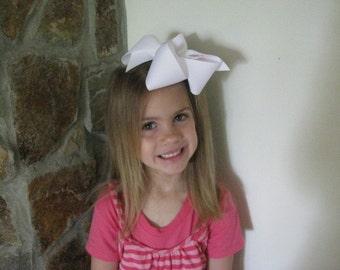 Custom Boutique Monogrammed Jumbo Hairbow---Extra Large Bow---Personalized---Beautiful Hairbow