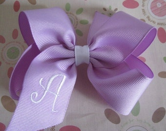 Monogrammed Hair bow, Custom Monogrammed Bow, Birthday Bow, Uniform Hair Bow, Personalized Hair Bow