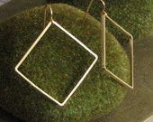 Gold Square Link Earrings SALE