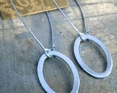 Oval Silver Link Earrings HALF OFF