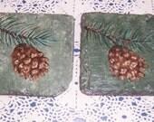 Slate coasters hand painted