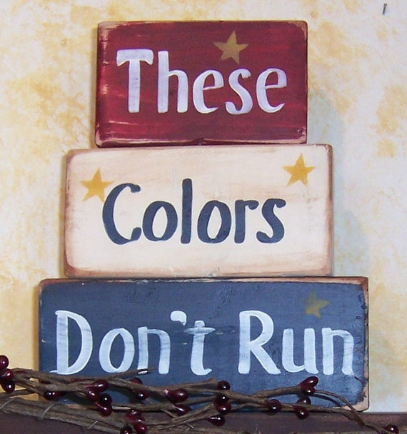 These colors don 39 t run blocks americana home decor for Americana home decor