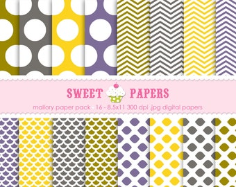 Mallory Digital Paper Pack - Commercial or Personal Use - by Sweet Papers