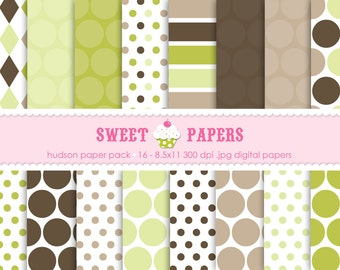 Hudson Digital Paper Pack - Commercial and Personal Use - by Sweet Papers