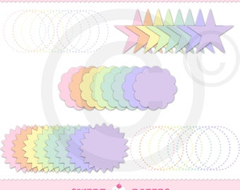Pastel Elements Digital Clip Art Set - Commercial or Personal Use - by Sweet Papers