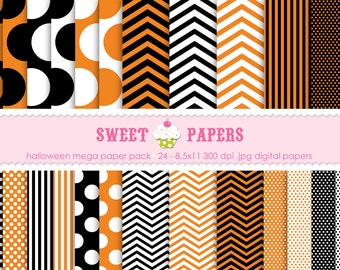 Halloween Digital Paper Pack - Commercial or Personal Use - by Sweet Papers