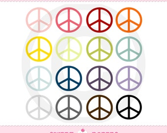 Peace Sign Digital Clip Art Set - Commercial and Personal Use - from Sweet Papers