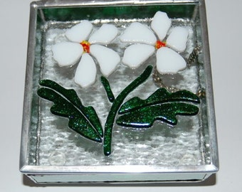 Flowers Stained Glass Box