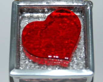 Heart Stained Glass Trinket Box