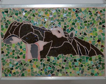 Hippo in Glass Mosaics