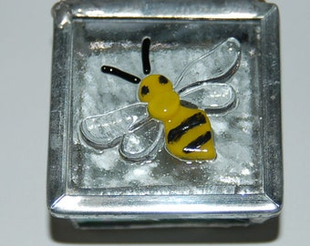 Bee Stained Glass Trinket Box