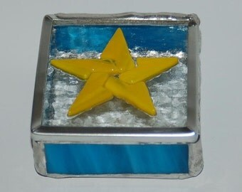 Small Star Stained Glass Trinket Box