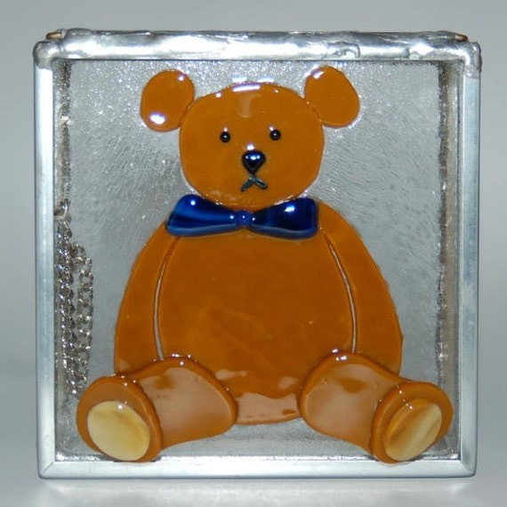 Teddy Bear Stained Glass Box