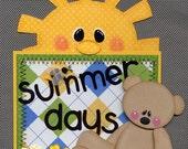 Summer Premade Scrapbook Title