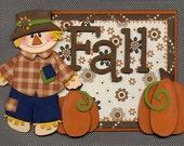 Fall - Premade Scrapbook Paper-Piecing Title