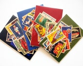 A Pack Of 20 Old Matchbox Labels