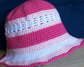 4-6x Crochet Girl's Sun Hat