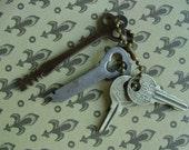 Antique  Steampunk Key lot 44