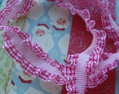 Kitsch Darling Red and White Checked Frilly Trim