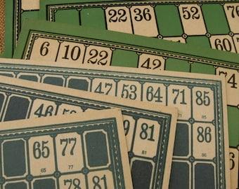 6 Antique Wonderful lotto cards