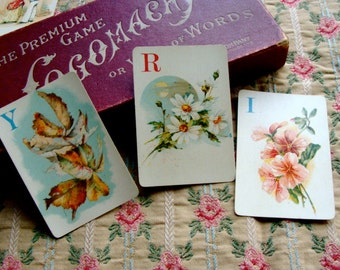 Antique Logomachy Alphabet Art  Gorgeous Playing Cards 1800s