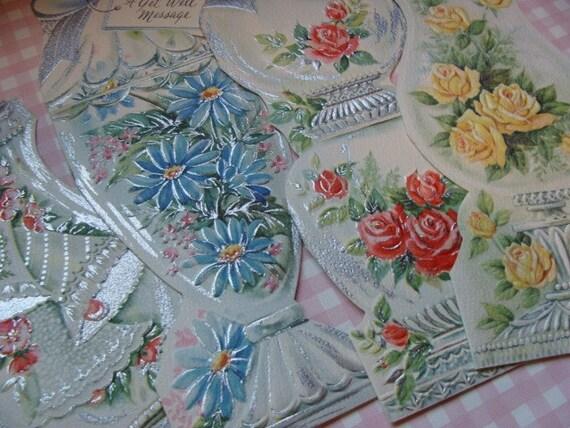 Gorgeous Apothecary Jar Vintage Unused Cards