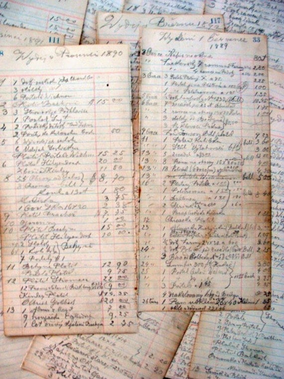 Stunning Victorian  Late 1800s Grocers Ledgers