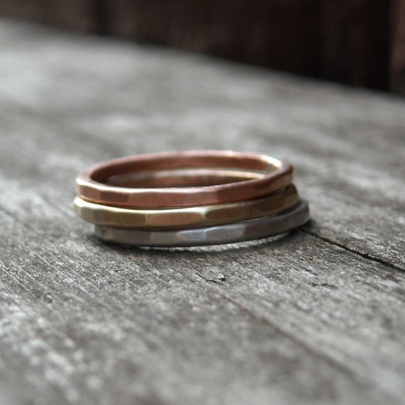Perfectly Stackable- Mixed Metal Trio