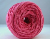 T-Shirt Yarn Hand Dyed- Pink- 60 Yards