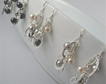 Flare Earrings with Sterling Silver Posts