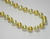 Vintage Yellow Faux Pearl Necklace Made in Japan